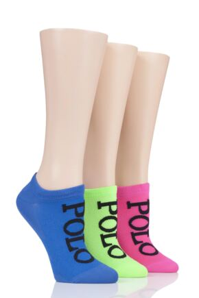 Ladies 3 Pair Ralph Lauren High-Cut Liner Socks