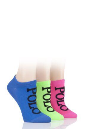 Ladies 3 Pair Ralph Lauren High-Cut Liner Socks
