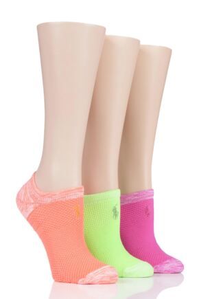 Ladies 3 Pair Ralph Lauren Microfibre High-Cut Liner Socks