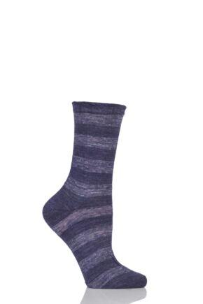 Ladies 1 Pair Falke Macrostripe Anklet Socks