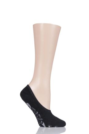 Ladies 1 Pair Falke Cosy Ballerina Slipper Socks with Carry Pouch