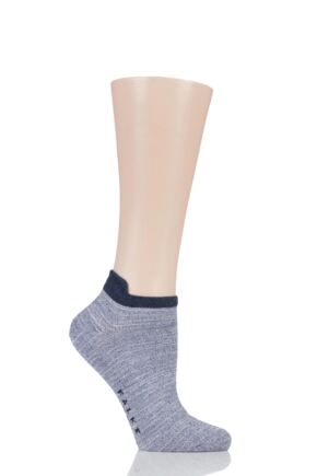 Ladies 1 Pair Falke Denim Addicted Cotton Trainer Socks