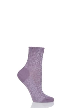 Ladies 1 Pair Falke Granite Cotton Socks Magnolia 39-42