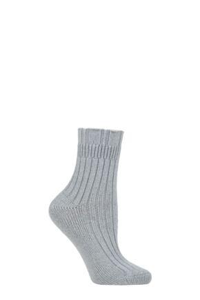 Ladies 1 Pair Falke Ribbed Wool Bed Socks