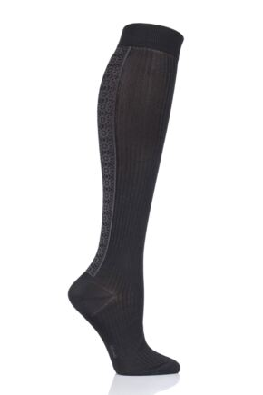 Ladies 1 Pair Falke Witchcraft Knee High Socks