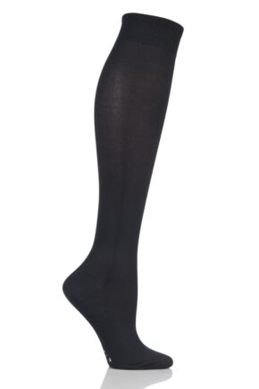 Ladies 1 Pair Falke Strong Leg Energizer Compression Socks Black 39-40 W1
