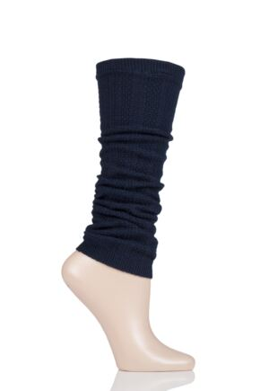 Ladies 1 Pair Falke Armour Ribbed Virgin Wool Leg Warmers
