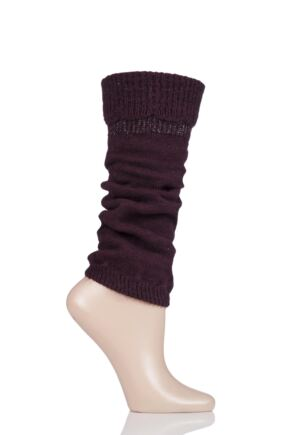 Ladies 1 Pair Falke Rural Wool Leg Warmers Barolo One Size
