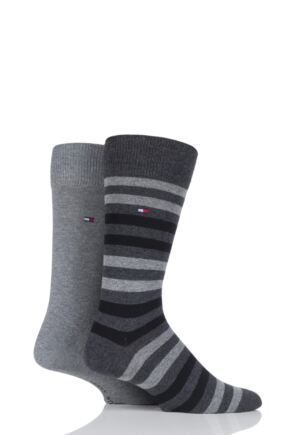 Mens 2 Pair Tommy Hilfiger Duo Stripe Socks