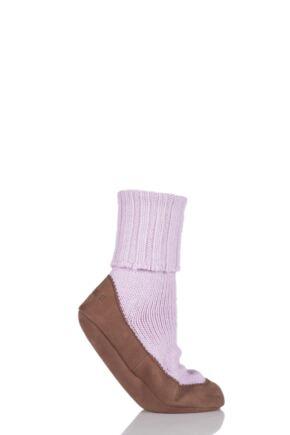 Ladies 1 Pair Falke Cashmere Blend Cottage Socks Sakura Pink 4-5