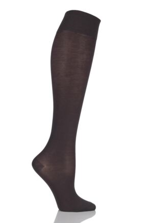Ladies 1 Pair Falke Sensitive Granada - Cotton Touch Left and Right Knee High Socks 25% OFF