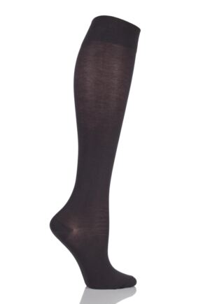 Ladies 1 Pair Falke Sensitive Granada - Cotton Touch Left and Right Knee High Socks