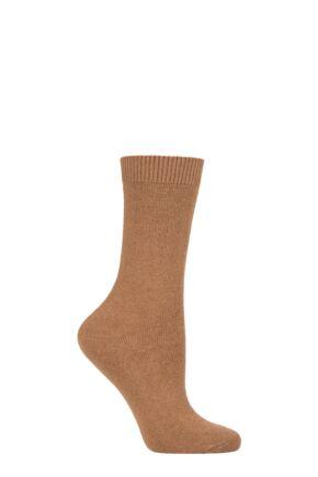 Ladies 1 Pair Falke Cosy Wool and Cashmere Socks Almond 5.5-8 Ladies