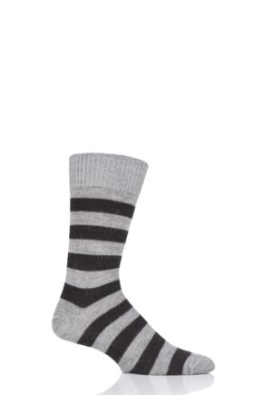 Mens and Ladies 1 Pair SOCKSHOP of London Striped Alpaca Everyday Socks