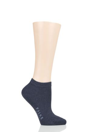 Ladies 1 Pair Falke Family Everyday Cotton Trainer Socks