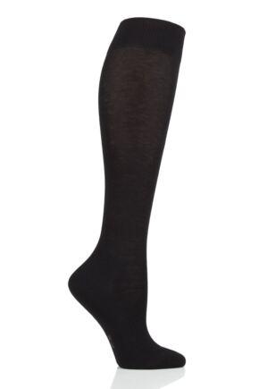 Ladies 1 Pair Falke Family Everyday Cotton Knee High Socks