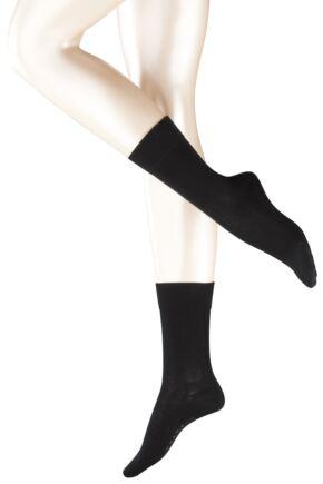 Ladies 1 Pair Falke Sensitive London Left And Right Gentle Grip Cotton Socks In 8 Colours