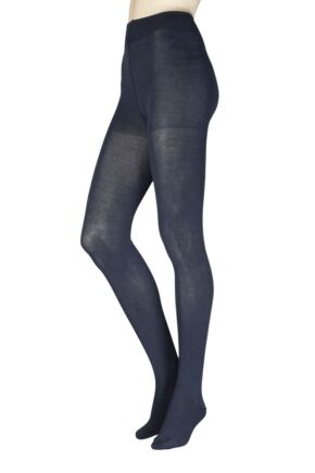 Ladies 1 Pair Falke Family Combed Cotton Tights