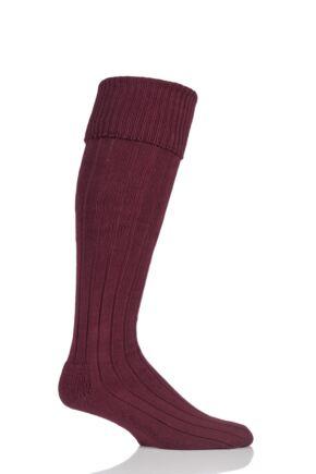 Mens 1 Pair Glenmuir Birkdale Cotton Cushioned Knee High Golf Socks Port 12-14