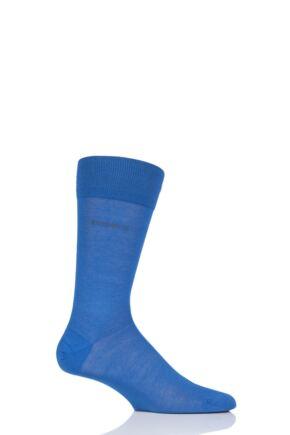 Mens 1 Pair Hugo Boss George 100% Mercerised Cotton Plain Socks