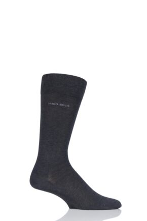 Mens 1 Pair Hugo Boss George RS Gentle Mercerised Cotton Socks