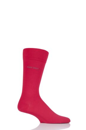 Mens 1 Pair Hugo Boss Marc Plain 98% Combed Cotton Socks Red 39-42