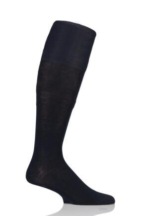 Mens 1 Pair Hugo Boss 82% Mercerized Cotton Knee High Socks