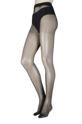 Ladies 1 Pair SockShop 15 Denier Invisible Slimming Tights