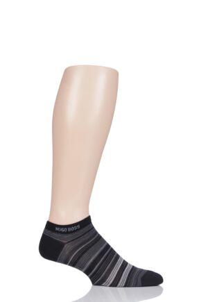 Mens 1 Pair Hugo Boss Mercerised Cotton Multistripe Sneaker Socks
