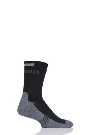Mens 1 Pair Hugo Boss Performance Sportswear Coolmax Crew Socks