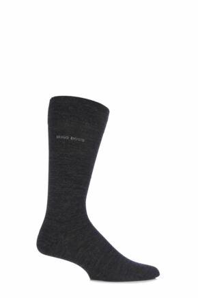 Mens 1 Pair BOSS John Plain Finest Wool and Soft Cotton Socks