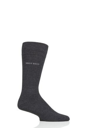 Mens 1 Pair BOSS Edward Plain 85% Soft Bamboo Socks Dark Grey 8.5-11