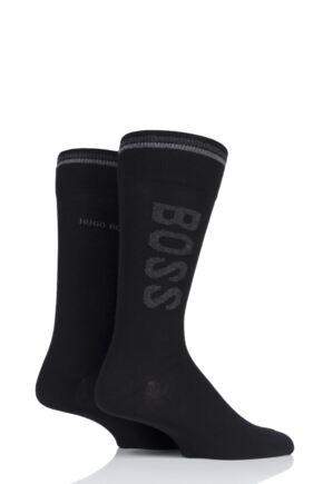 Mens 2 Pair BOSS Combed Cotton Boss Logo Socks