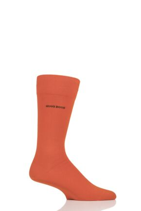 Mens 1 Pair BOSS Marc Plain 98% Combed Cotton Socks Orange 5.5-8 Mens