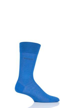 Mens 1 Pair BOSS George 100% Mercerised Cotton Plain Socks Blue 10-11 Mens