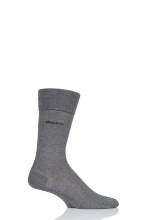 Mens 1 Pair BOSS George 100% Mercerised Cotton Plain Socks