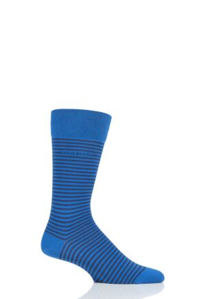 Mens 1 Pair BOSS Marc Striped Combed Cotton Socks