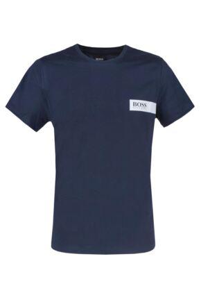 Mens 1 Pack BOSS Round Neck Boss Chest Logo T-Shirt