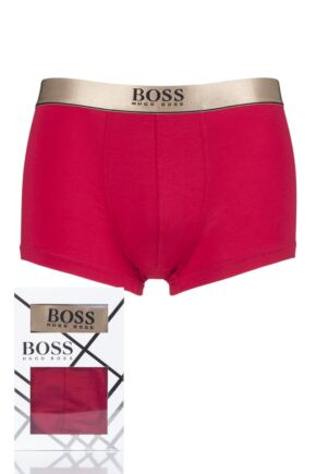 Mens 1 Pack BOSS Plain Cotton Celebration Gift Boxed Boxer Shorts