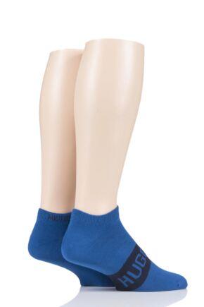 Mens 2 Pair BOSS Logo Combed Cotton Trainer Liner Socks
