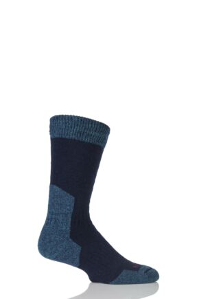 Mens 1 Pair Bridgedale Comfort Summit Socks For Comfort And Warmth Navy