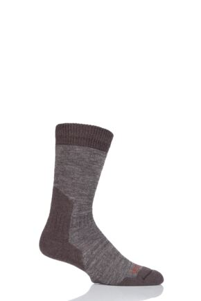 Mens 1 Pair Bridgedale Comfort Summit Socks For Comfort And Warmth Chestnut M