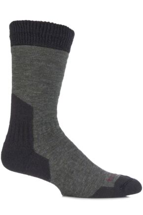 Mens 1 Pair Bridgedale Comfort Summit Socks For Comfort And Warmth Dark Green L
