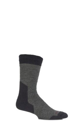 Mens 1 Pair Bridgedale Comfort Summit Socks For Comfort And Warmth Dark Green M