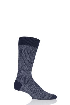 Mens 1 Pair Pantherella Scala Cashmere Blend Sparkle Ribbed Socks