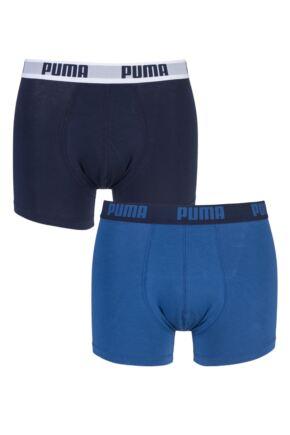 Mens 2 Pair Puma Basic Boxer Shorts