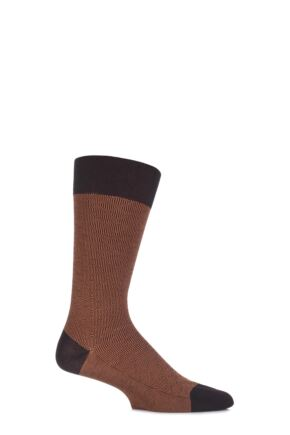 Mens 1 Pair Pantherella Business Modern Aldgate Optical Squared Cotton Socks