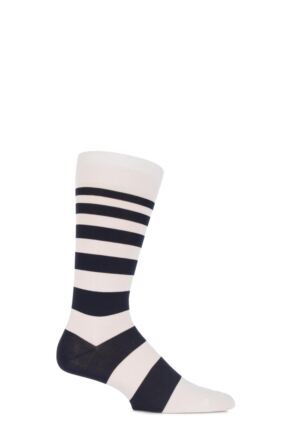 Mens 1 Pair Richard James Sinai Expanding Striped Cotton Socks