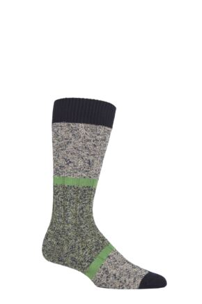 Mens 1 Pair Pantherella Eco Luxe Rydal Block Recycled Socks