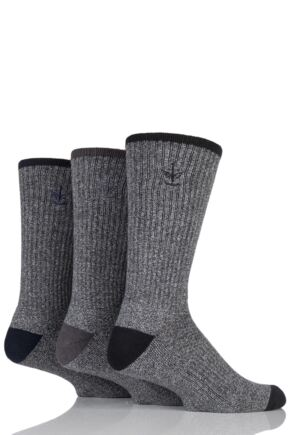 Mens 3 Pair Firetrap Contrast Heel, Toe and Tipping Socks